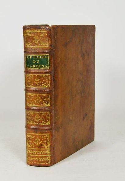 [Affaire du collier]. Recueil de 21 pièces en 1 volume in-4, veau moucheté, dos...