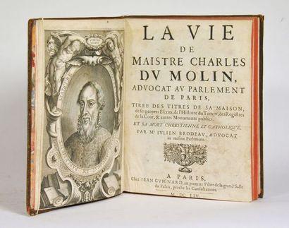 BRODEAU (Julien). La Vie de Maistre Charles...