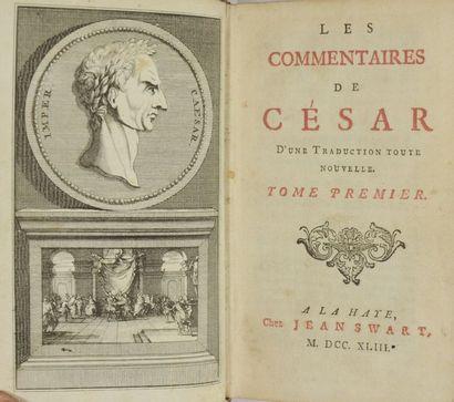 CESAR (Jules). Les Commentaires de César,...