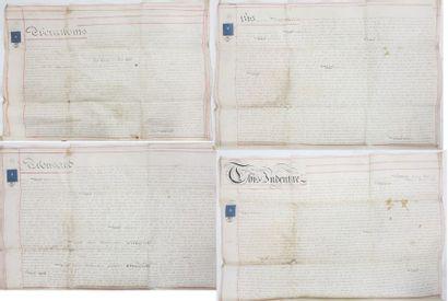 Manuscrit anglais. Titre de propriété manuscrit...