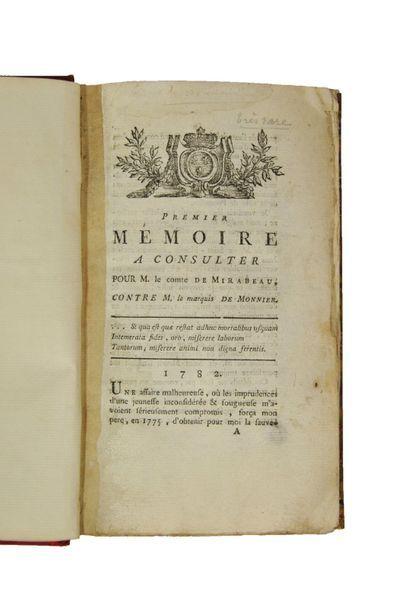 [MIRABEAU (Honoré Gabriel Riqueti, comte...