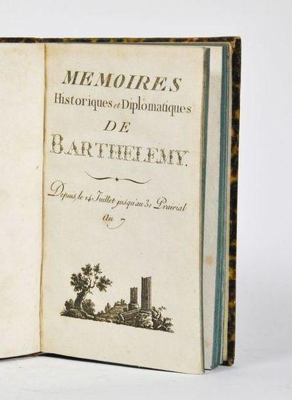 BARTHELEMY (François, marquis de). Mémoires...