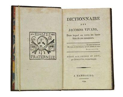 [CALINAU (L.)]. Dictionnaire des Jacobins...