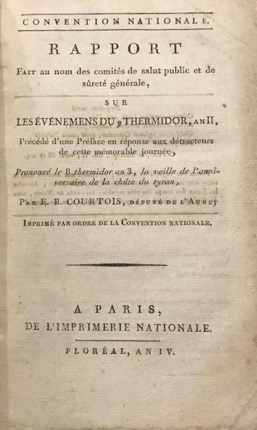 COURTOIS (Edme Bonaventure). Rapport fait...