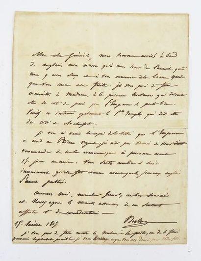 BERTRAND (Comte Henri-Gratien, Général) 1773-1844....