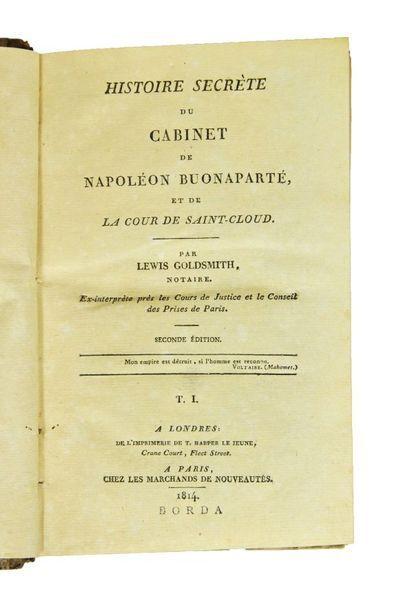 GOLDSMITH (Lewis). Histoire secrète du Cabinet...