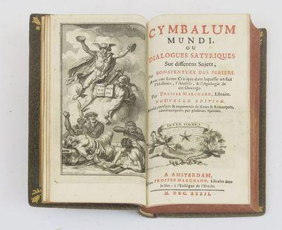 BONAVENTURE des PERIERS. Cymbalum Mundi,...