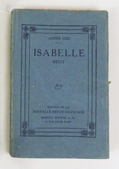 GIDE (André ). Isabelle . Paris, nrf, 1911....