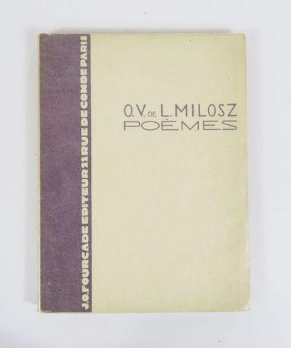 MILOSZ (Oscar Vladislas de Lubicz). Poèmes...