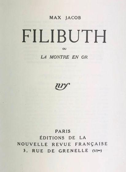 JACOB (Max). Filibuth ou La Montre en or....