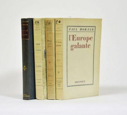 MORAND (Paul). L'Europe galante. Paris, Grasset,...