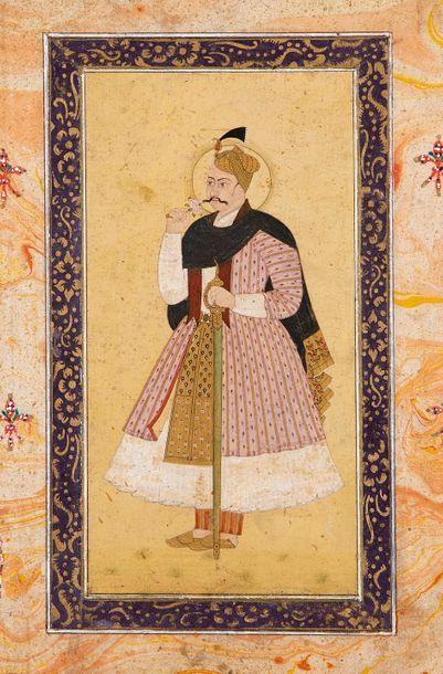 Portrait d'Abdullah Qutb Shah (r. 1626-72)...