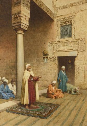 Enrico TARENGHI (Rome 1848 - 1938) La prière...