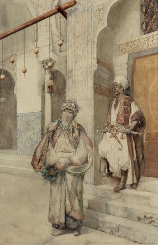 Ettore SIMONETTI (Rome 1857 - 1909) Aux portes...