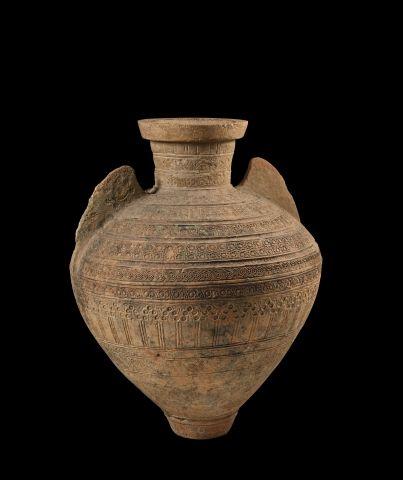 Jarre à eau almohade en céramique à décor...