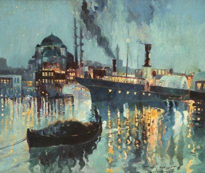 Attribué à Harry HEUSSER (1886 - 1943) Vue...