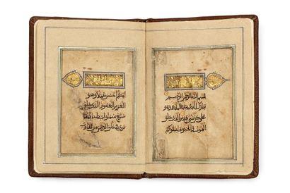 Partie de Coran en Eastern Kufi sur papier...
