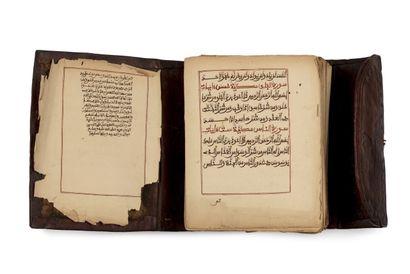 Coran d'Afrique de l'Ouest Manuscrit arabe sur papier, calligraphié en maghribi...