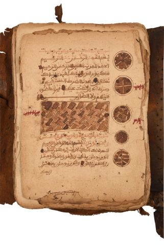 Coran Targhi, sub-saharien vers 1800 Manuscrit...