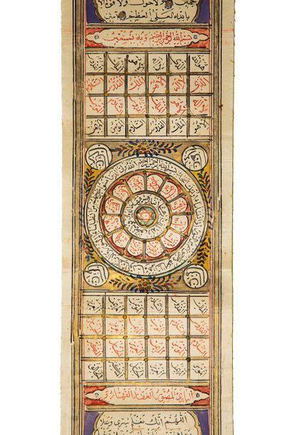 Rouleau magique Manuscrit arabe sur papier,...