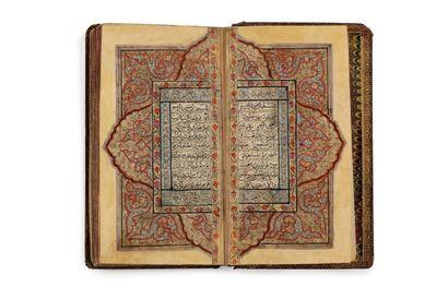 Coran du Cachemire du XIXe siècle Manuscrit...