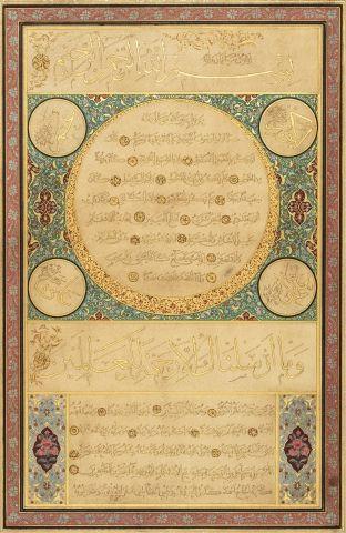 Hilyeh signée el-Hajj Ahmad Kamil connu sous...