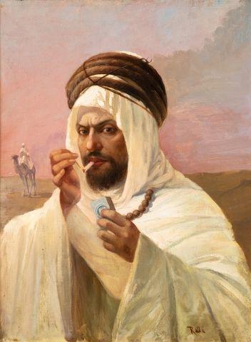 Theodore RALLI (1852-1909) Portrait d'un...