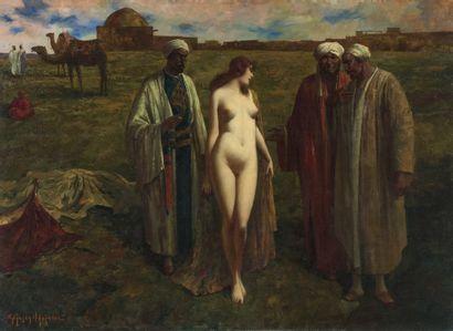 **ANSEN-HOFMANN Eduard 1820-1904 . Le marché...