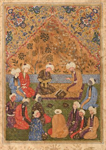 Double page de manuscrit de Yusuf o Zolaykha...