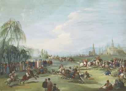 École orientaliste du XIXe siècle Le Jeu...