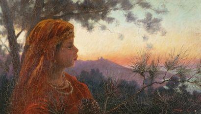 Salomon TAIB (Bône 1877 - 1954) Portrait...