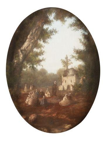 Ecole ORIENTALISTE du XIXème siècle Palabre...