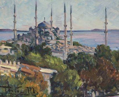 Ecole ORIENTALISTE du XXème siècle Vue d'Istanbul...