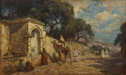 Addison Thomas MILLAR (1860 - 1913) La halte...