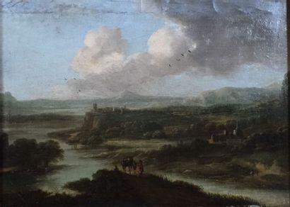 Attribué à Lucas van UDEN (1595 – 1672) Paysage...