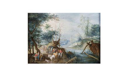 Balthazar BESCHEY (1708-1776)  Chariot en...