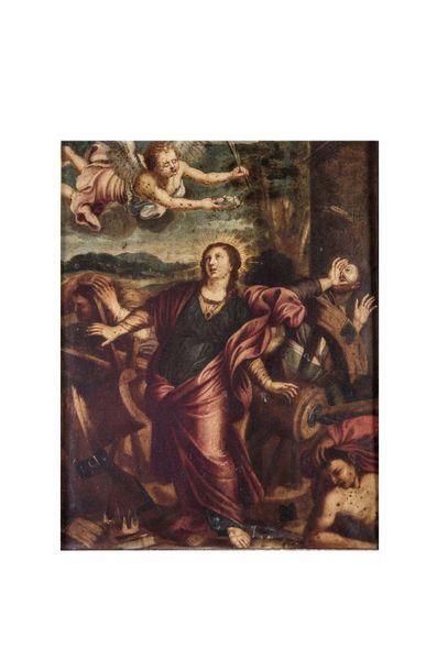Ecole VENITIENNE vers 1600  Le Martyre de...