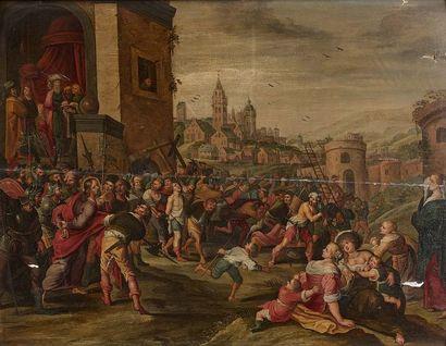 Ecole ANVERSOISE du XVIIème siècle, atelier...