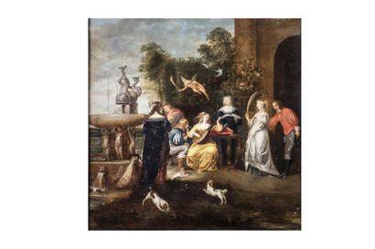 Simon de VOS  (Anvers 1603 – 1676)  Concert...