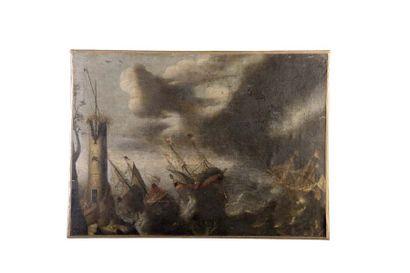 Attribué à Pieter van de VELDE  (1634 - 1687)...