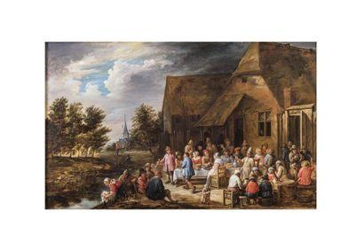 Gillis van TILBORCH  (Bruxelles 1625 – 1678)...