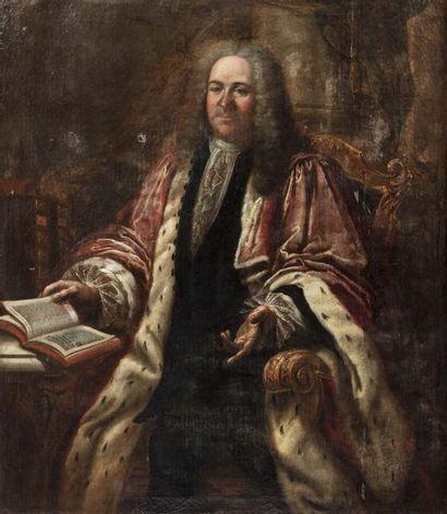Ecole FRANCAISE vers 1730  Portrait d'homme...