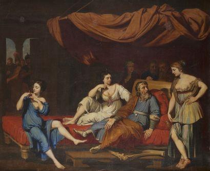 Ecole FRANCAISE de la fin du XIXème siècle Le Roi David et ses servantes Toile 108...