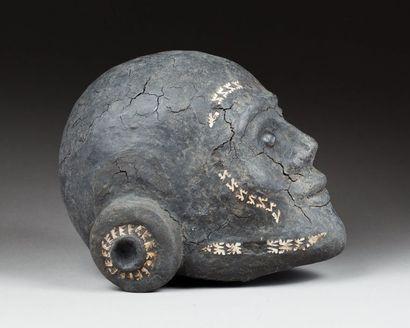 Crâne d'ancêtre surmodelé, il présente un...