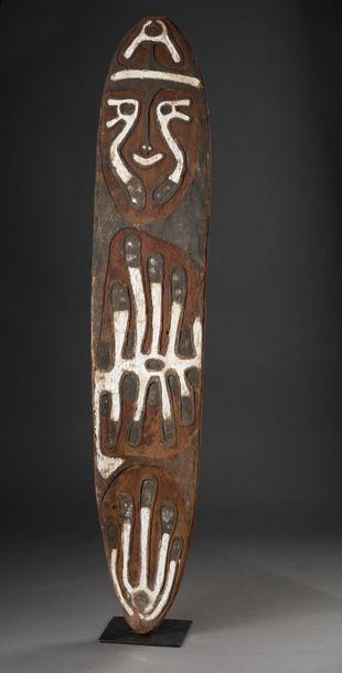 Planche votive Gopé présentant un esprit...