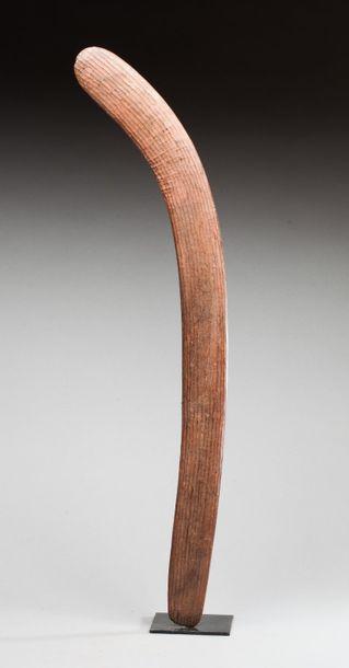 Boomerang de cérémonie et de chasse à décor...