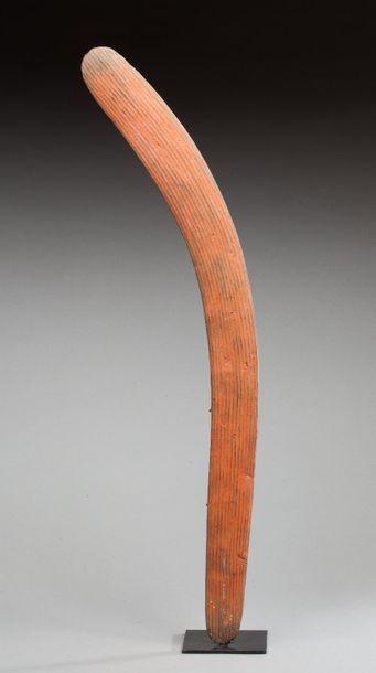Boomerang de chasse ou de cérémonie à décor...