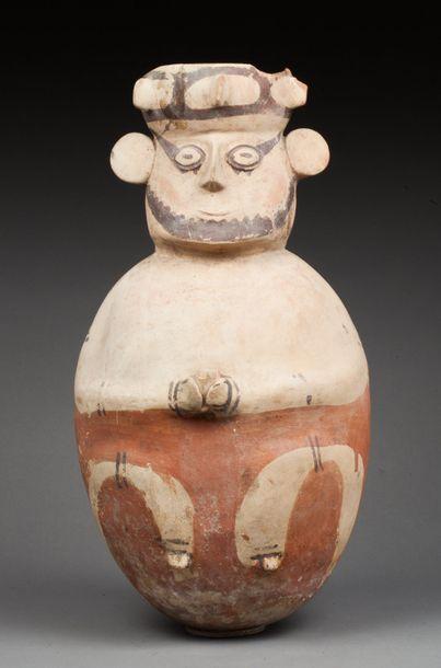 Vase présentant probablement un prêtre tenant...