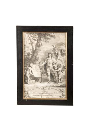Louis XIV. Gravure représentant le Roi Soleil...