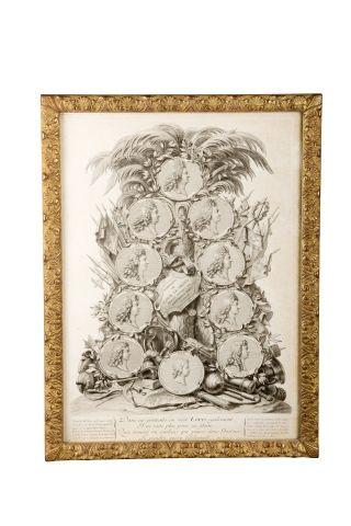 Louis XIV. Gravure sur cuivre représentant...